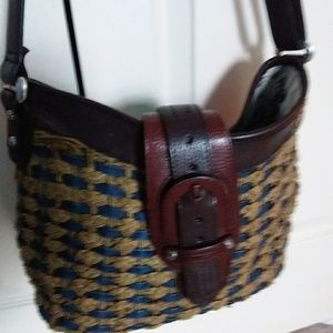 Brighton straw and leather bag
